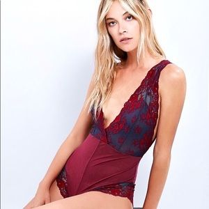Free People Midnight Hours Lace Bodysuit